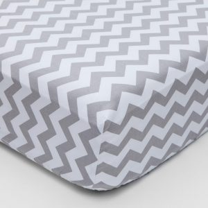 Grey chevron design fitted sheet