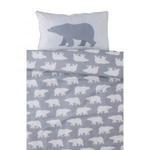 Grey Polar Bear design with silver piping